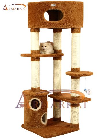 armarkat kratzbaum katze braun gro e h hle standfest stamm 11cm 167 cm 45131 ebay. Black Bedroom Furniture Sets. Home Design Ideas